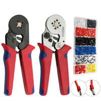 1200pcs Cable Wire Terminal Connector Hand Ferrule Crimper Pliers Crimping Tool