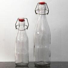 Glasflasche mit Bügelverschluss [ Glas Bügelflasche ], leere Draht Bügel Flasche