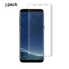 Samsung Galaxy S8 Plus Screen Protector HD Clear 3D Curved Case Friendly 2 Pack
