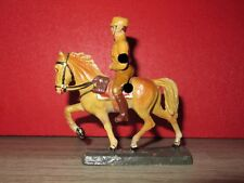 ELASTOLIN / LINEOL  - TRES RARE SOLDAT ALLEMAND A CHEVAL N°2  WW2