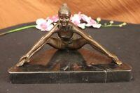 Mother`s Day Gift Elegant Modern Art Female Yoga Bronze Marble Statue Sculpture