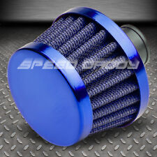 9MM AIR INTAKE MANIFOLD CRANKCASE VENT VALVE/BREATHER TAPERED GAUZE FILTER BLUE