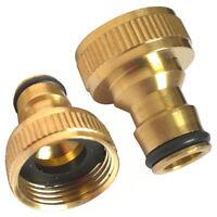 KQ_ 3/4 Inch Threaded Brass Tap Adaptor Garden Water Hose Quick Pipe Connector N