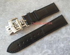 Genuine OEM Zenith 21/18mm Black Matte Alligator Leather Strap/Deployment Clasp