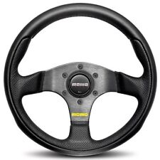 MOMO Steering Wheel Team Black Leather Airleather 280mm Genuine TEA28BK0B