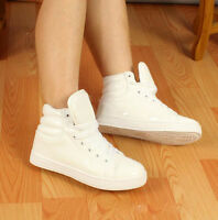 Fashion Women Men Sweet Candy Color Lace Up  Shoes Boots Casual Sneakers