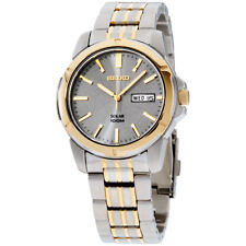 Seiko Core Grey Dial Stainless Steel Men's Watch SNE098