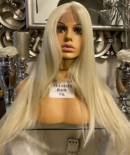 blonde human hair wig, Lace Wig, hand knotted, lace front Swiss Lace Blonde