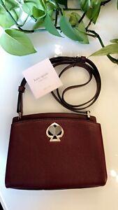 Kate Spade Burgundy Twistlock crossbody Bag