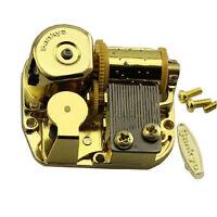 "SANKYO Gold Windup DIY Music Box Movement Key 18 Tune ""You Are My Sunshine"" R"