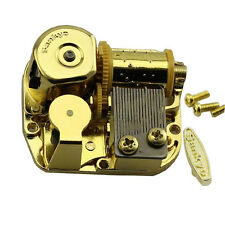 "SANKYO Gold Windup DIY Music Box Movement Key 18 Tune ""You Are My Sunshine"" XT"