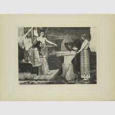 Sascha Schneider. un arrivederci. taglio di legno sul Giappone. 1895