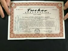 1948 Tucker Automobile Stock Certificate