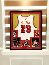 Authentic Michael Jordan Hand Signed Autographed Bull Jersey Framed With COA