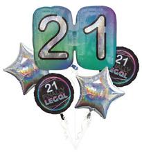 Finally 21 Balloon Bouquet 5pc | Enjoy FINALLY LEGAL 21st Party Balloon Bouquet