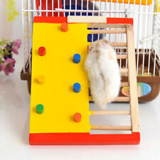 Wooden Rock Climbing Ladder Hamster Climb Scratching Toy Pet Cage Ornament _GG