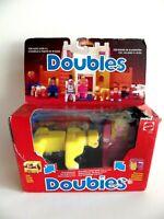 "Vintage figurine JOUET MATTEL 1985 "" DOUBLES "" STYLE PLAYMOBIL lego en boite"