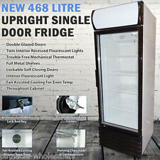 NEW 468Lt Commercial Upright Single Door Drinks Fridge Chiller Beer Refrigerator