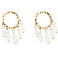 Elegant Orecchini Pendenti Multi Perle per Le Donne Orecchini Grandi Grandi A2R3