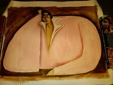 Pink Fat Elvis 16x24 Abstract Cubism Painting Tommervik