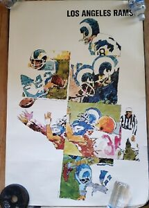 1968 Los Angeles LA Rams 24x36 Sports Illustrated Poster Don Weller