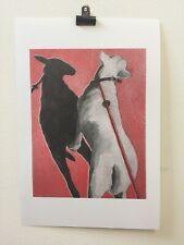 """Pandy"" English Bull-Terrier Risograph Print (Affordable Art - Riso - Dog)"