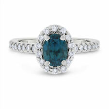 1 1/4 Ct Natural Diamond Halo Engagement Ring in 14k White Gold