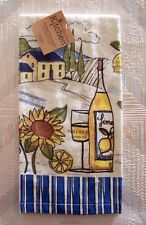 Sunflowers Wine Terry Towel Kay Dee Tuscan Sun Pattern