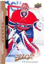 18/19 UPPER DECK MVP HIGH SERIES SP #206 CAREY PRICE CANADIENS *53483