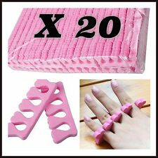20 x Soft Sponge Foam Finger Toe Separators - Pedicure Manicure Nail Art