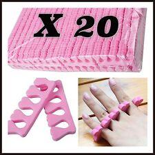 20 X Esponja suave espuma de dedo la Separadores-Pedicura Manicura Nail Art