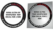 MIXED RIM DECAL SET OF CAMPAGNOLO BORA ULTRA 80 + BORA ULTRA TWO  FOR  2 RIMS
