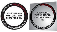 MIXED RIM DECAL SET OF CAMPAGNOLO BORA ULTRA 80 + BORA ULTRA TWO  FOR  2 RIMS