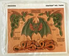 Tandy Leather Factory Mythical Fantasy Dragon Stencil NEW Craftaid No. 76606