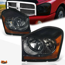 For 04 06 Dodge Durango Headlight Lamp Smoked Lens Amber Corner Oe Replacement