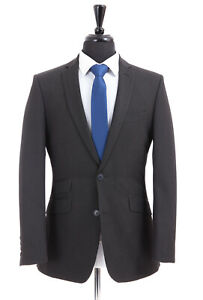 Men's Burton Grey Suit Tailored Fit Essential Collection