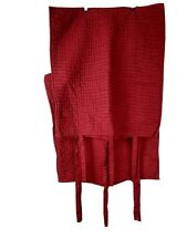 2 Pottery Barn Euro Pickstitch Quilted Shams - Red Cotton/Linen Blend