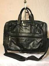 Vintage FRYE Messenger black Classic Leather Briefcase Case Carryall Bag VGUC
