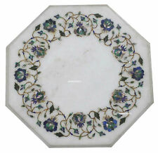 """12"""" Marble coffee Table Top Glorious Floral Design Inlaid Work  Home Decor"""