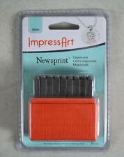ImpressArt Basic Newsprint Uppercase Letter Metal Stamp Set New