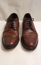 Florsheim Men's Size 7.5 D Dress Shoes Leather Wingtip Brown