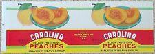 Wholesale Dealer's Lot 100 Carolina Peaches Can Labels W. P. Rawl Gilbert, S. C.