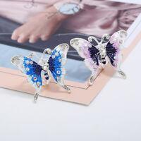 Elegante Kristall Schmetterling Schal Schnalle Triple Slide Schal Ring Brosche