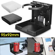 Adjustable Folding White/ Black Drink Holder Boat Marine Caravan Car Cup