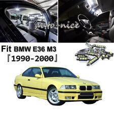 17 Error Free Bulbs For BMW E36 328i M3 1990-2000 LED Interior Light Package Kit