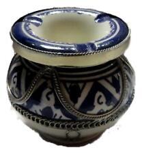 MOROCCAN Small  Ceramic Metal ASHTRAY