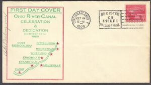 Ohio River Canalization FDC, Sc No 681, Cincinnati, Oct 19, 1929