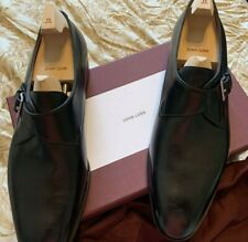 $1480 John Lobb Shoes Single Monk shoes hand made in England SIZE 12