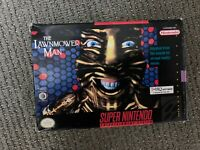 The Lawn Mower Man SUPER NINTENDO SNES GAME COMPLETE BOXED CIB Lawnmower