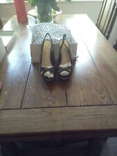 ladies( office) shoes size 5 new in box stiletto heels in black patent leather